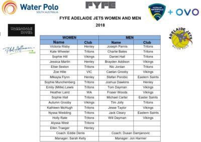 AWL 2018 Team List